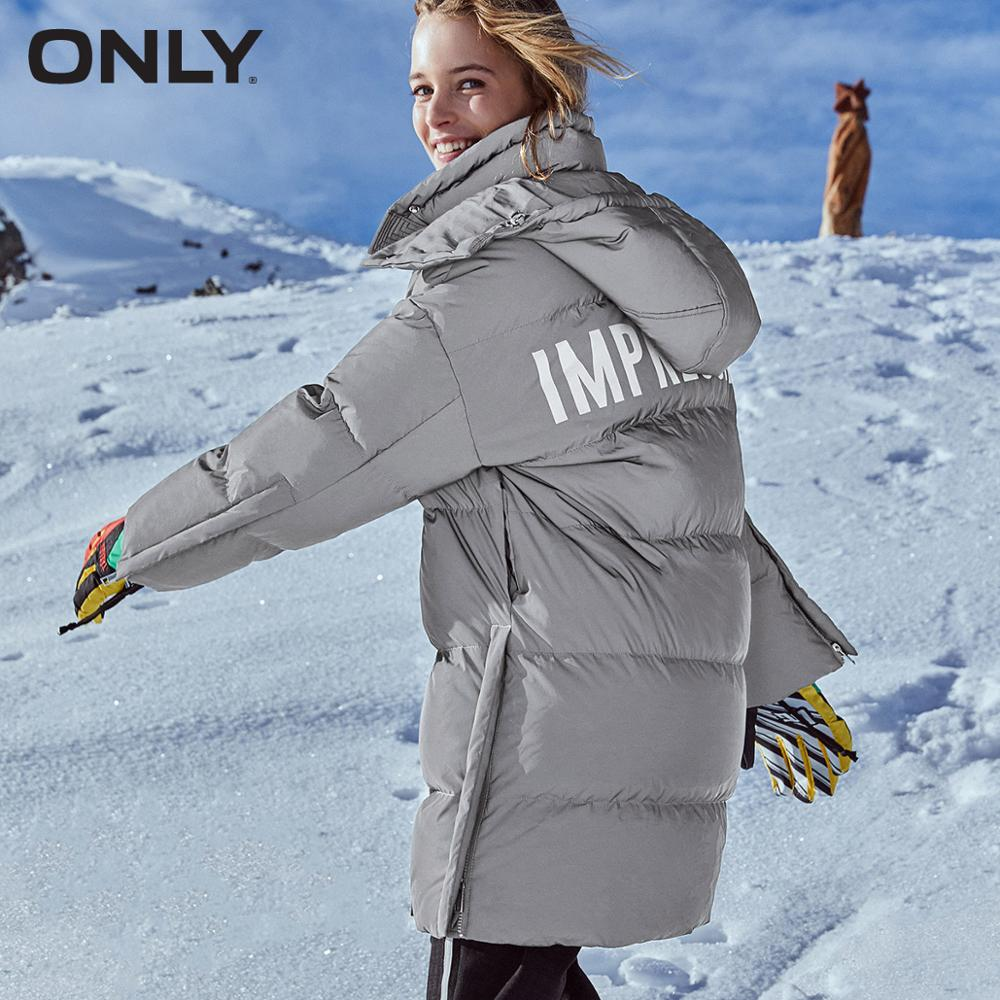 ONLY Winter Women's Reflective Letter Print Down Jacket | 119312554