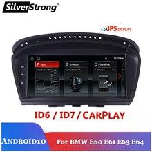 كاربلاي ، أندرويد 10 ، شاشة سيارة متعددة الوسائط لسيارات BMW E60 E90 325 320 525 530 ، شاشة نافي بنظام تحديد المواقع ، خيار TPMS ، DVR