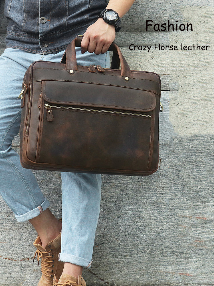H3a79d9f2ad6244a5ad038445e8fdd0f43 MAHEU Vintage Leather Mens Briefcase With Pockets Cowhide Bag On Business Suitcase Crazy Horse Leather Laptop Bags 2019 Design
