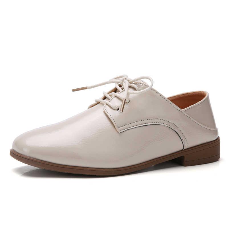 Plardin nuevo ocio cuero genuino coser zapatos de Skate zapatos planos de mujer Ballet encaje conciso Mujer Zapatos Zapatillas de planos Casuales