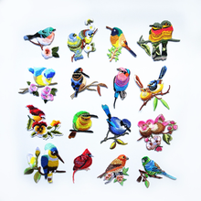 Flower Bird Patch Floral Embroidery Iron on Patches for Clothing Applique DIY Hat Coat Dress Pants Accessories Cloth Sticker(China)