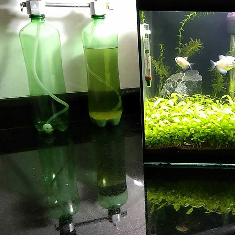 حوض السمك CO2 منظم نظام عدة co2 الناشر مولد مع صمام فقاعة البخاخة الملف اللولبي خزان الأسماك ثاني أكسيد الكربون للنباتات
