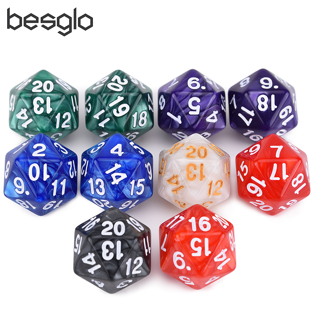 22mm Spindown Dice Assorted Colors Set Of 10 For MTG Games