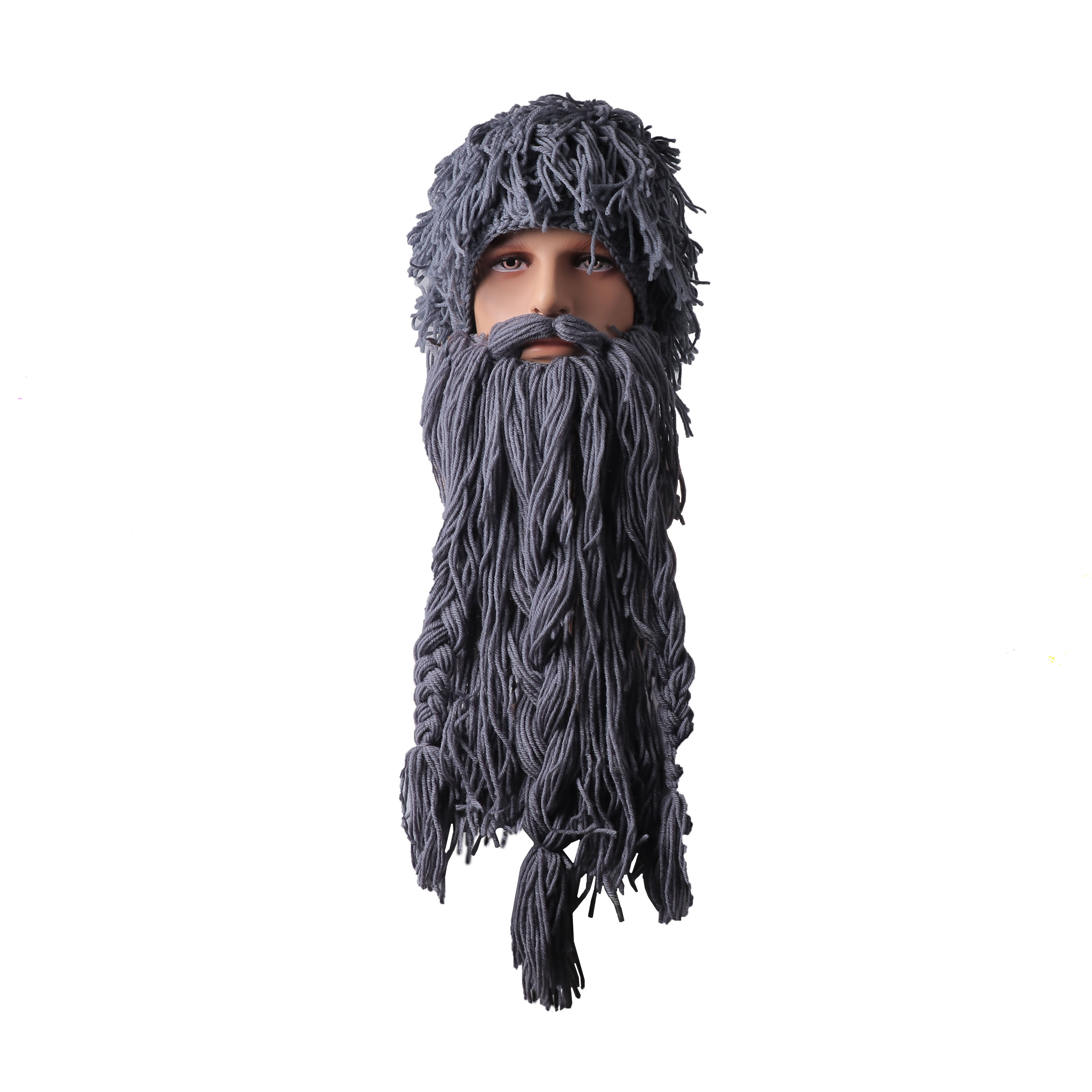 Top SaleπWinter Hats Wig Beard-Hat Christmas-Mask Viking Cosplay Funny Vagabond Men's Cap Knitted