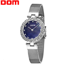Watch Women DOM Top Brand Luxury Quartz watch Casual quartz-watch leather Mesh strap ultra thin clock Relog