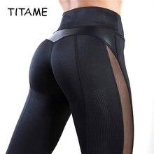 Titame женские леггинсы для фитнеса женская сумка из искусственной