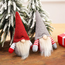 Wesołych wisiorek świąteczny lalka bez twarzy zawieszka na choinkę Santa lalka prezentowa ozdoby świąteczne ozdoby świąteczne dla domu tanie tanio PD-496-503 christmas tree home decorations natal