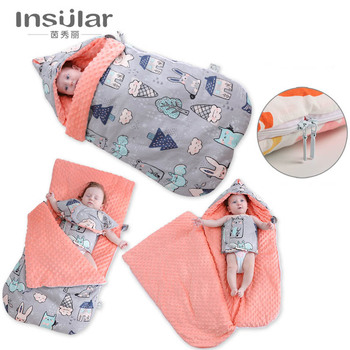 Baby blanket quilt Sleeping bag Used for baby stroller cushion Pure cotton Thickened  Multi purpose Easy for travel