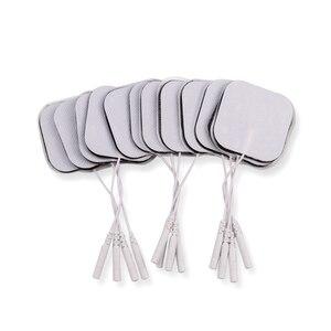 Image 2 - 50/100Pcs TENS Electrode Pad Self Adhesive นวด Patch สำหรับเครื่องกระตุ้นกล้ามเนื้อ PULSE การฝังเข็มกายภาพบำบัดนวด 2 มม.ปลั๊ก