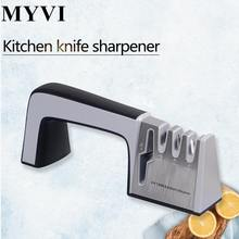 MYVI 4 Holes Knife Sharpener Stainless Steel Knife Sharpener Tungsten steel Ceramic Knives Scissor Grinding System Kitchen Tools(China)