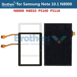 Dotykowy szkło panelowe do Samsung Galaxy Note 10.1 N8000 N8010 ekran dotykowy Digitizer P5100 montaż wyświetlacza LCD Tablet LCD AAA Test