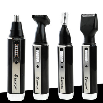 Multi-functional Electric Nose Hair Trimmer Mini Shaver Nose Hair Trimmer 4-in-1 Sideburn Eyebrow Set