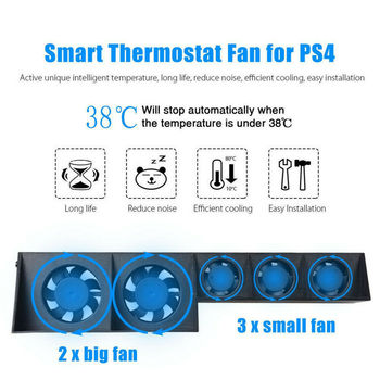 control for sony ps4 game console play station playstation ps 4 pro cooler cooling fan dc 5v usb gadget controller refrigeration Support Base for Sony PS Play Station Playstation 4 PS4 Pro Stand Cooler Cooling Fan Accessories Game Console Control Accesorios