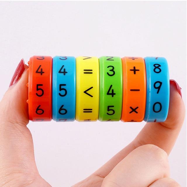 6pcs/set Digital Multiplication Magnetic Coloful Figure Arithmetic Puzzle Building Blocks Kids Educational Toy for Children