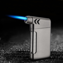 New Metal Spray Gun Jet Pipe Lighter Ultra Thin Torch Turbo Butane Gas Elbow Inflated Windproof Cigarette Cigar