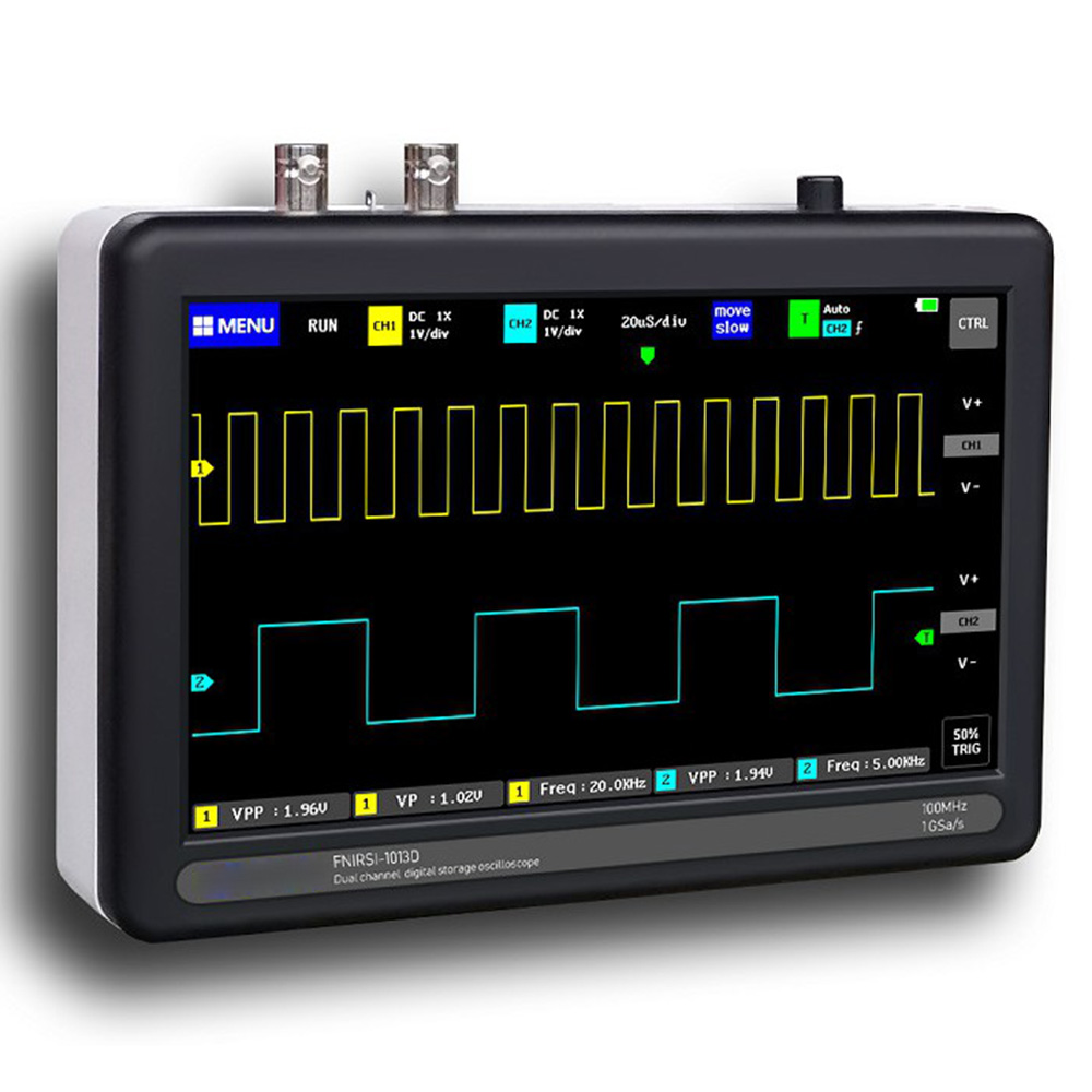 2020 New High Quality Durable 7 Inch Digital Tablet Oscilloscope 2CH 100MHz Bandwidth 1GS Sampling Rate