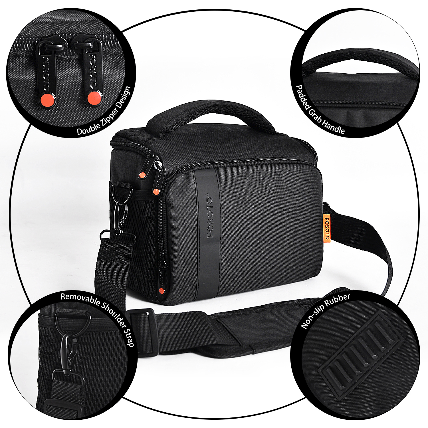 SYF/&DJN Male Waterproof Photography Camera Shoulder Bag Fashion Canvas Student Crossbody Lens Cases for Canon Nikon//Sony