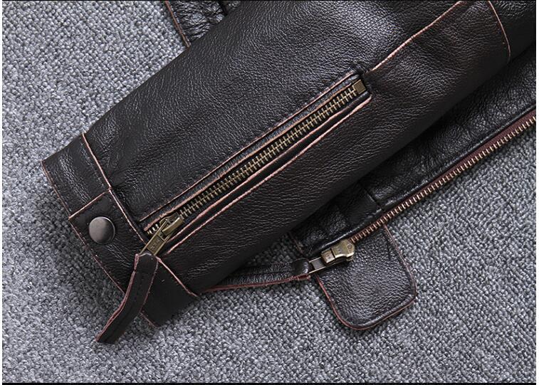 H3a7ada511bdd4e119d6dca172cc61e104 2019 Vintage Brown Men Slim Fit Motorcycle Leather Jacket Plus Size XXXXL Genuine Cowhide Spring Biker's Coat FREE SHIPPING