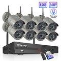 Techage 8CH H.265 Wi-Fi камера NVR Системы двухсторонний говорить аудио Беспроводной 4/6/8 шт. 2MP IP CCTV камера Камера HD P2P системы видеонаблюдения