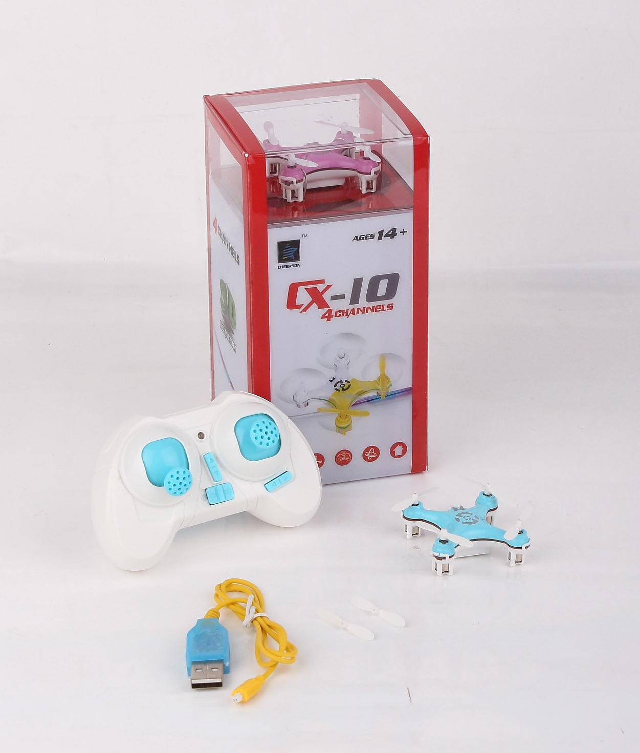 CX-10 Mini 2.4G Quadcopter Remote Control Flight Toy Helicopter Aviation Model CX-10