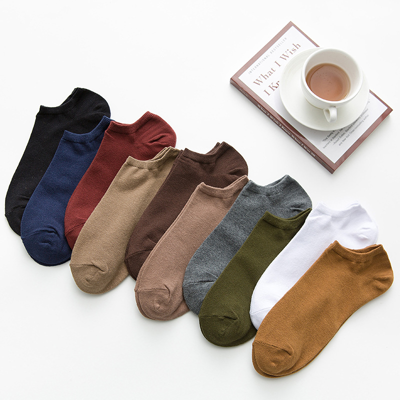 3 Pairs = 6 Pieces Men Boat Socks Solid Color Cotton Low State Shallow Mouth Invisible Socks Boys 2020 Spring Summer Flexible