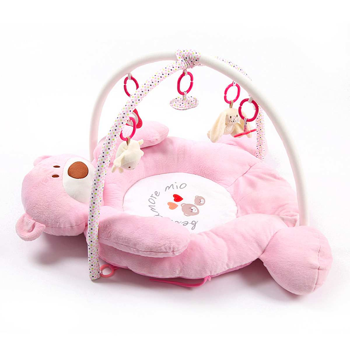 ballboU Cute Lovely Baby Crawling Pad Round Cartoon Bear Mat Children Toy Carpet