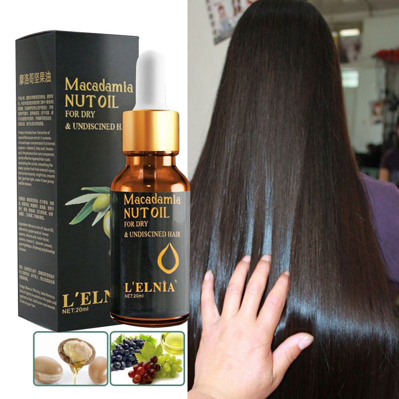 Argan Oil For Hair Care Treatment Essence Fast Powerful Hair Growth Liquid Hair Loss Products Serum Repair Keratine Herbal 20ml
