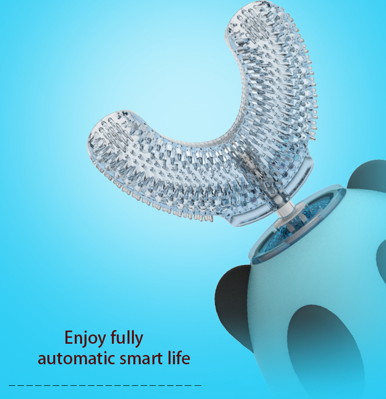Smart U 360 Degrees Kids Sonic Electric Toothbrush Silicon Automatic Ultrasonic Teeth Tooth Brush Cartoon Children