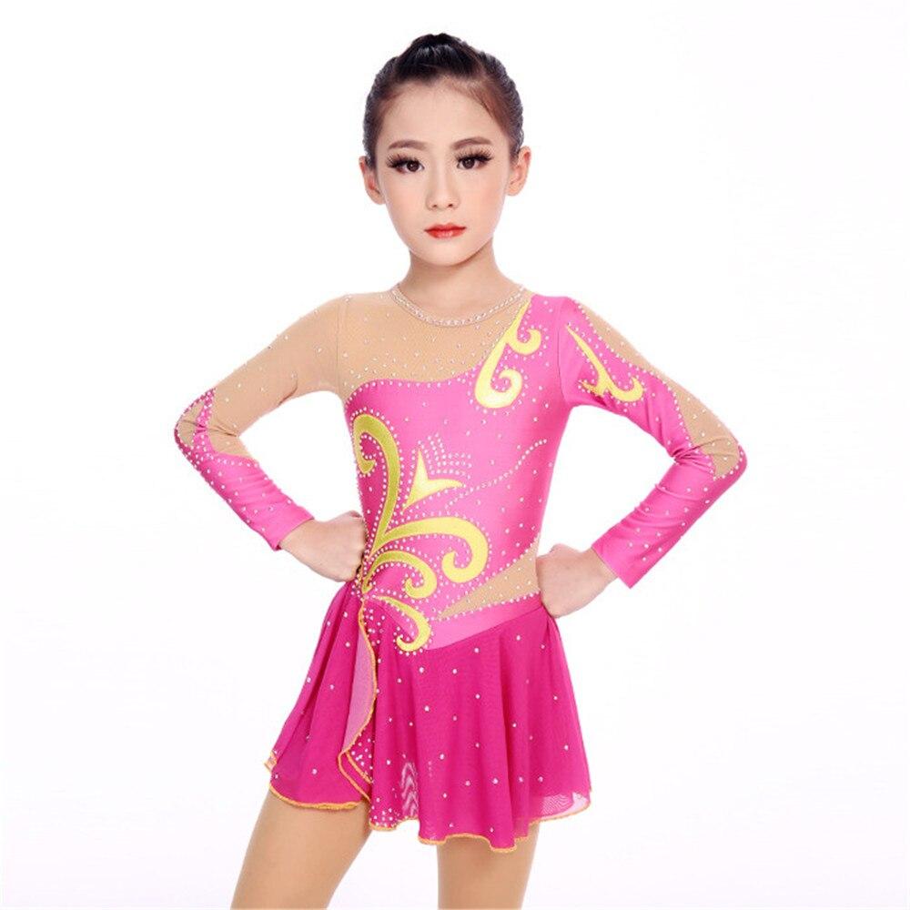 US Women Girls Velvet Skating Dress Ballet Dance Gymnastic Leotard Dress Costume