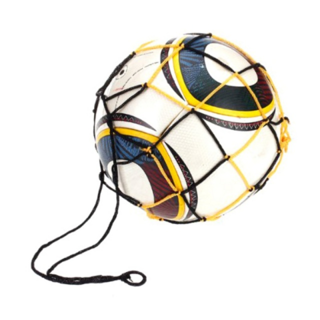 3 Colors Sports Football Accessories Soccer Mesh Net Bag Single Ball Carrier For Carrying Basketball Volleyball Soccer