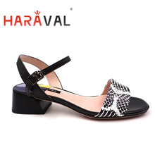 HARAVAL Women Sandals shoes Thick heels Low heel Fashion lad