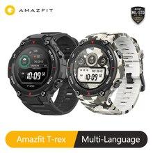 Versão global amazfit t rex relógio inteligente 20 dias de vida da bateria gps 14 modo esporte smartwatch à prova dwaterproof água para android ios