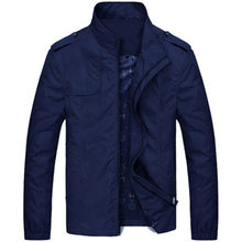 Jacket men spring and autumn new men's stand-up collar thin jacket youth casual large size windbreaker men's jacket