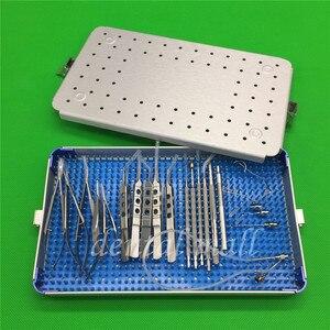 Image 1 - 21 sztuk/zestaw okulistyczna zaćmy oka mikro chirurgia instrumenty chirurgiczne z pudełkiem