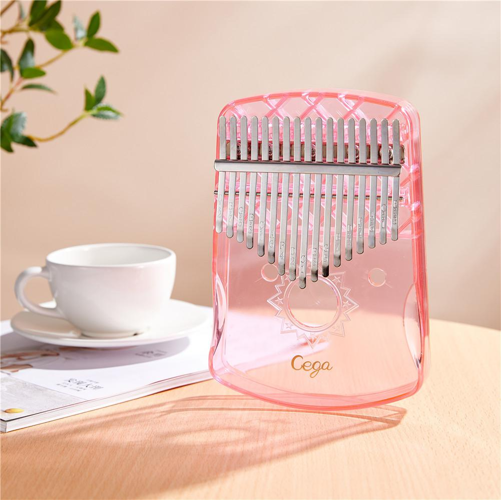 17-Key Kalimba Thumb Piano Portable Crystal Transparent ABS Mbira Keyboard Finger Piano African Musical Instrument Performance