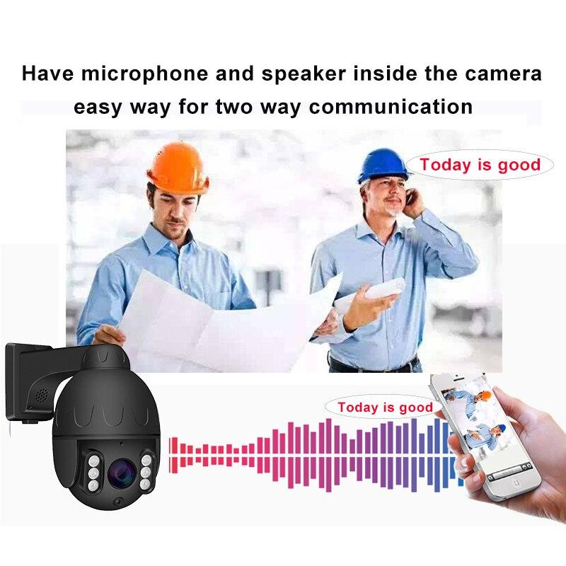 Poe Sd kaart Ptz Ip Camera 5MP 5 Xzoom Hikvision Dahua Nvr Compatibel Microfoon Speaker App H.265 Cloud Storage Mini dome Camera - 3