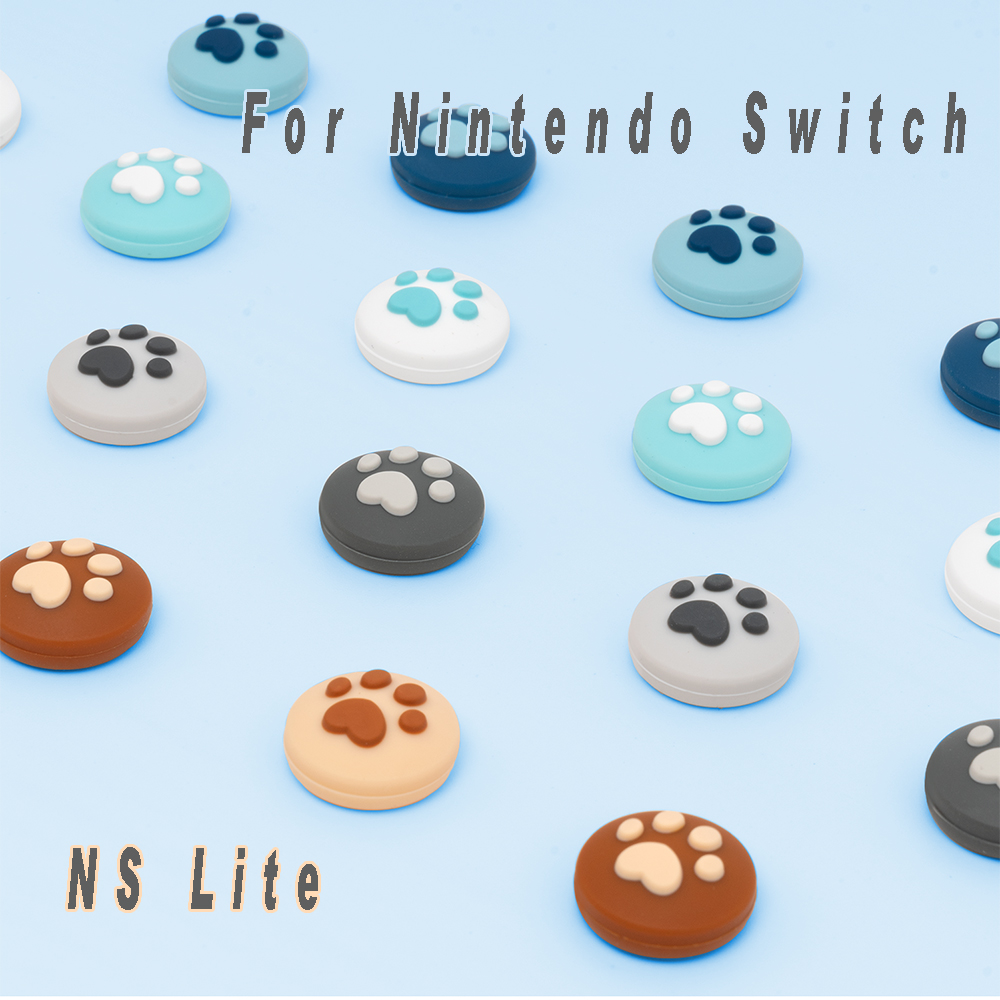 Силиконовый Аналоговый джойстик для nintendo Switch NS Joy Con с контроллером, рукоятка для большого пальца, колпачки, колпачки для переключения NS Lite Joy...