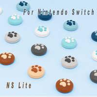 Para Nintendo Switch NS Joy Con controlador de silicona analógico pulgar Stick Grips Caps Nintend NS Switch Lite Joy Con tapas de agarre de pulgar