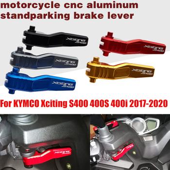 Motocykl dźwignia hamulca postojowego dla KYMCO XCITING S400 400 S S400i 400 S 400 I 400i XCITINGS400 XCITINGS400i 2017 2018 2019 2020 tanie i dobre opinie CN (pochodzenie) CNC aluminum alloy Black Titanium Golden Red Blue For KYMCO Xciting S400 400S 2017-2020 For KYMCO Xciting S400i 2017-2020