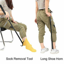 Shoe-Horn Socks Durable Long with And People Reduced Mobility-Dressing-Stick