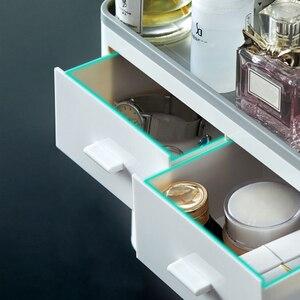 Image 4 - Dispensar automático de pasta de dentes, espremedor de pasta de dente, rack para montagem na parede, suporte para escova de dentes com copo, acessórios para banheiro