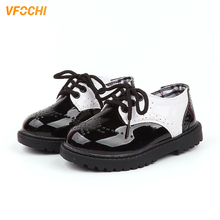 VFOCHI New Boys Leather Shoes for Kids Low Heeled Soft Boy Casual Children Party Wedding Teenager Formal