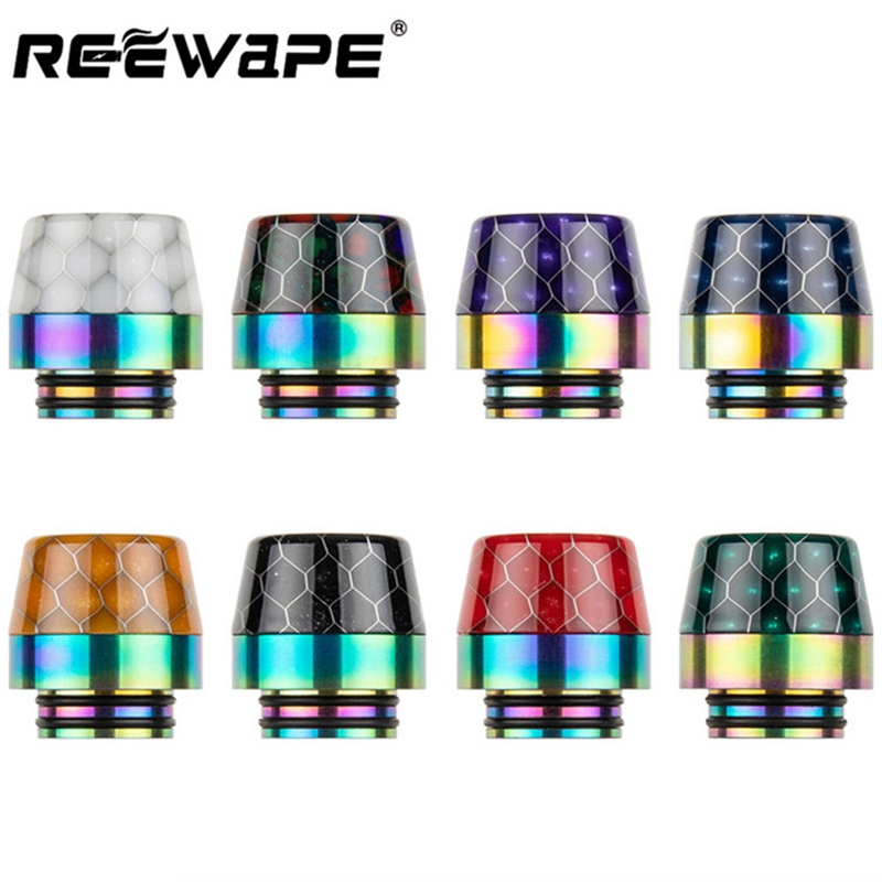 Colorful Snake Skin Rainbow Cobra 810 Drip Tip Vape Mouthpiece For 810 Thread Atomizer E-Cigarette Vaporizer Tank