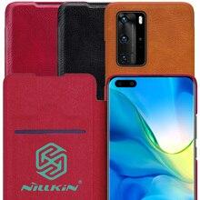 NILLKIN Qin หนังสำหรับพลิก Huawei P40 Pro Pro + PLUS