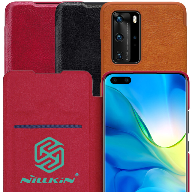 Nillkin Qin Book Flip Leather Case Cover For Huawei P40 Pro Pro+ Plus
