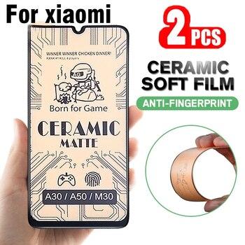 2PCS Matte Soft Ceramic Tempered Glass for Xiaomi Mi 9 SE 9T Redmi Note 8 9s 8T Poco X3 NFC Note8 Protective Screen Protector