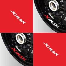 Nieuwe Motorfiets Reflecterende Wiel Tire Logo Creatieve Stickers Velg Innerlijke Decoratieve Decals Voor Yamaha Xmax 300 125 250 300 X max