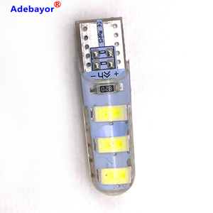 Image 5 - 100pcs סיטונאי T10 סיליקון מקרה 6 SMD 5630 LED רכב כיפת אור W5W 194 6LED 6SMD 5730 LED טריז חניית מנורת הנורה 12V 100X