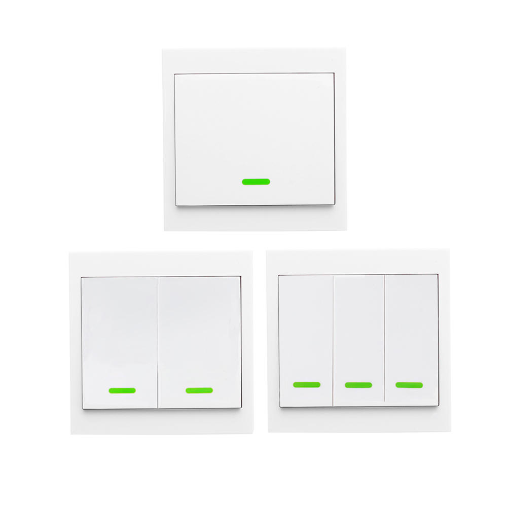 1 2 3 Button RF Switch Wireless Remote Control Switch Wall Panel Transmitter For Living Room Bedroom Ceiling Light
