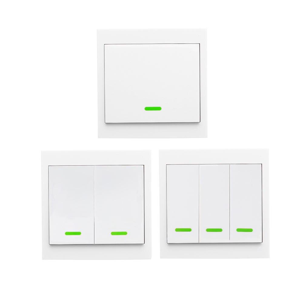 SONOFF 1 2 3 bouton RF commutateur sans fil télécommande interrupteur panneau mural transmetteur pour salon chambre plafonnier